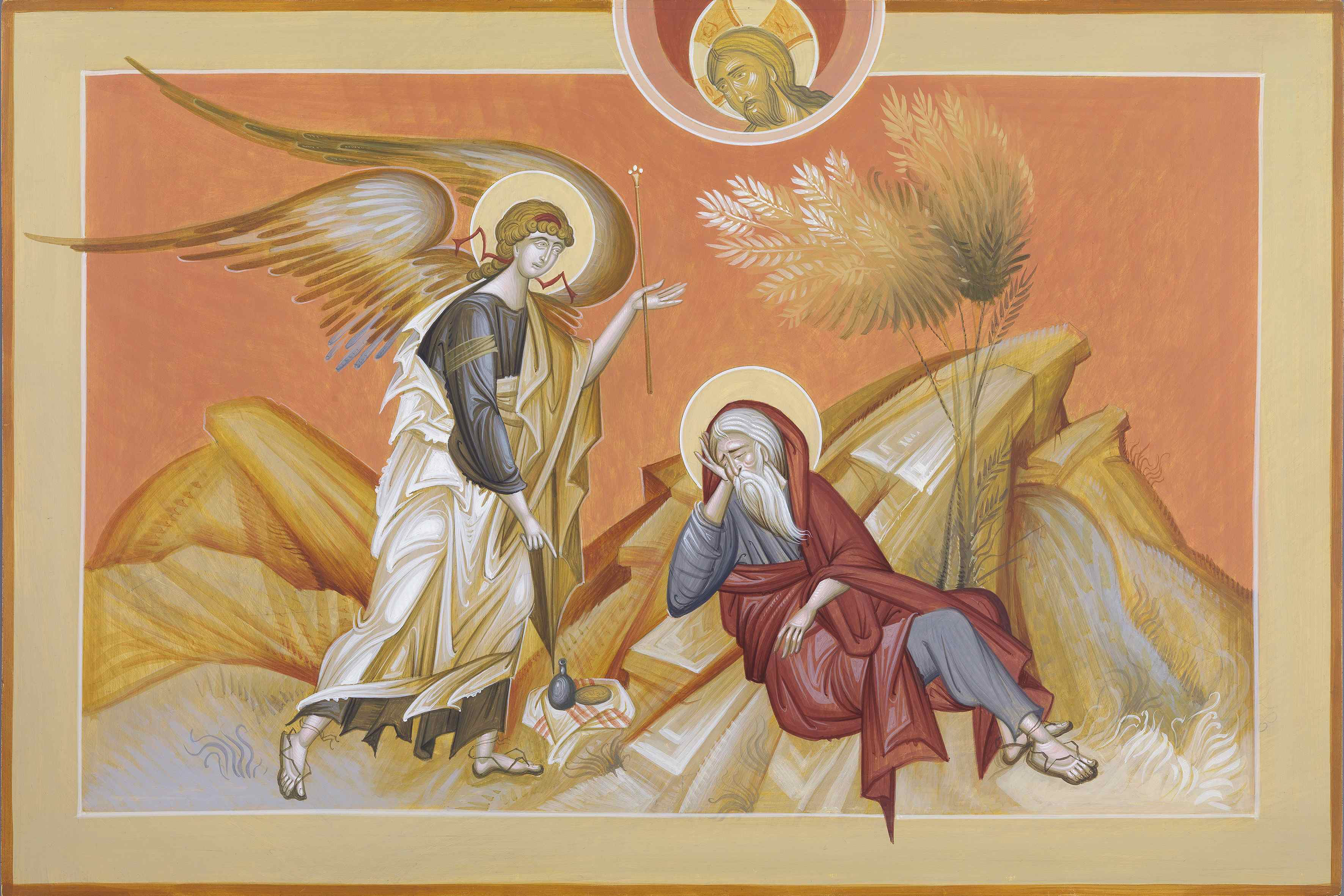 the vision of PROPHET ELIAS. 30x60 cm. 1900 $ (1)